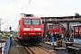 """Adtranz 33820 - Railion """"145 075-8"""" 05.08.2006 - Engelsdorf, BahnbetriebswerkDaniel Berg"""